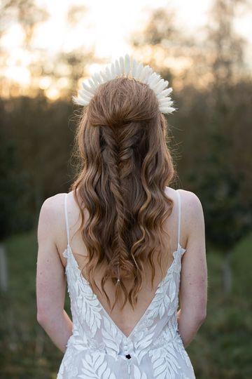 Sarah White Hair and MUA