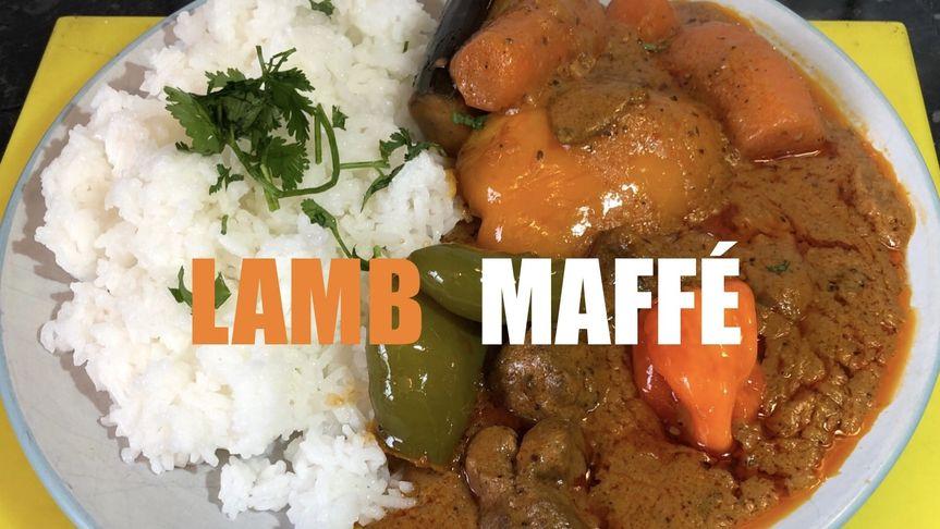 Spicy lamb maffé