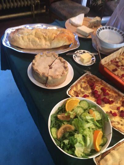 Gammon in pastry & rabbit pie