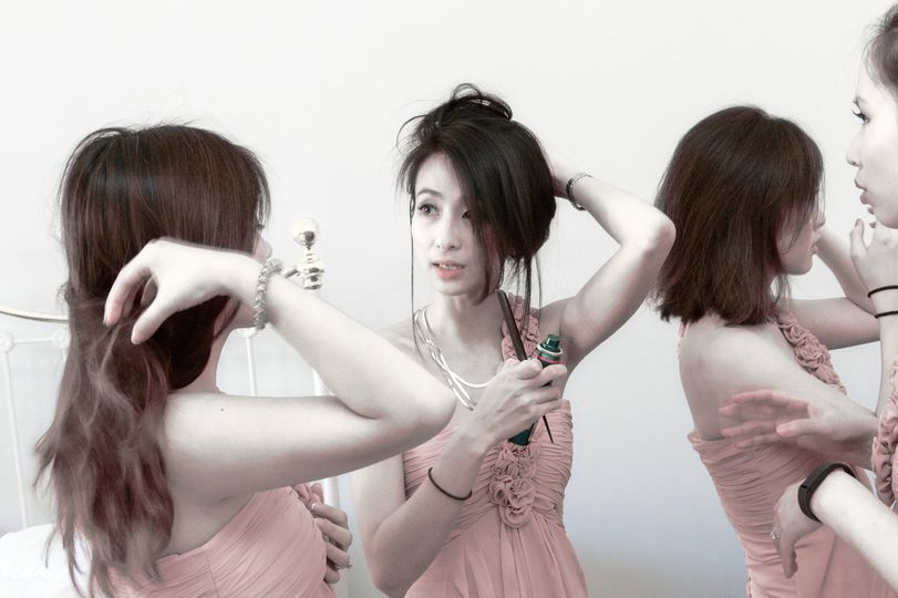 Chinese bridesmaids at oxford