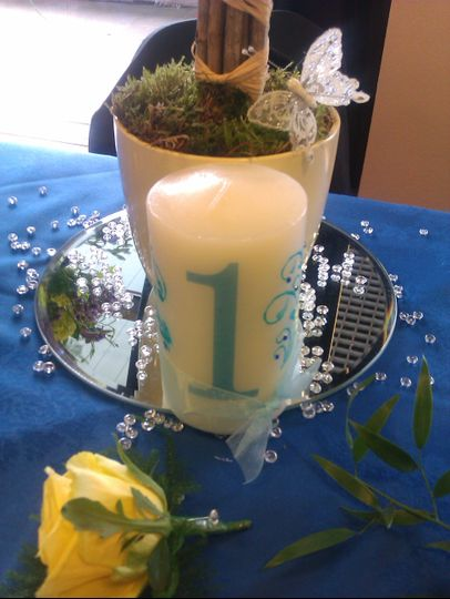 Center piece candle