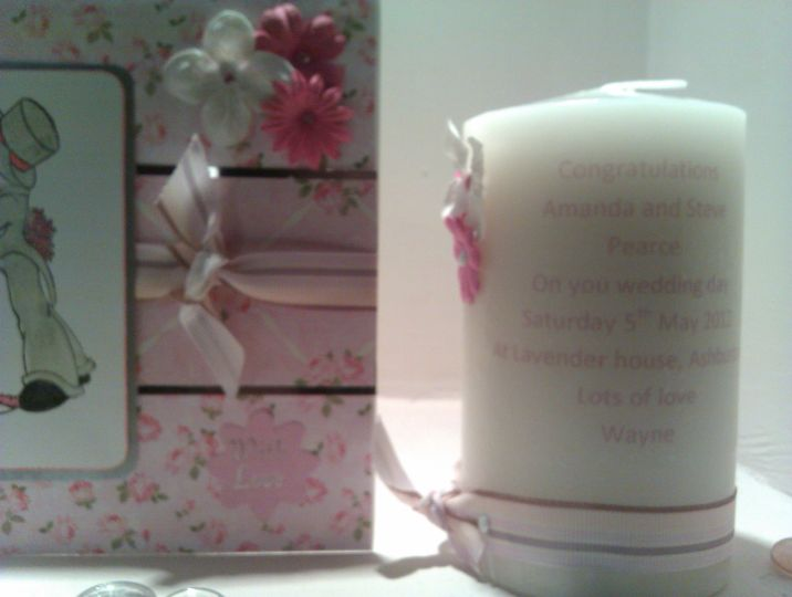 Card and candle gift set