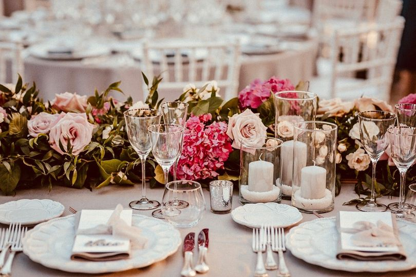 Place settings and table decor