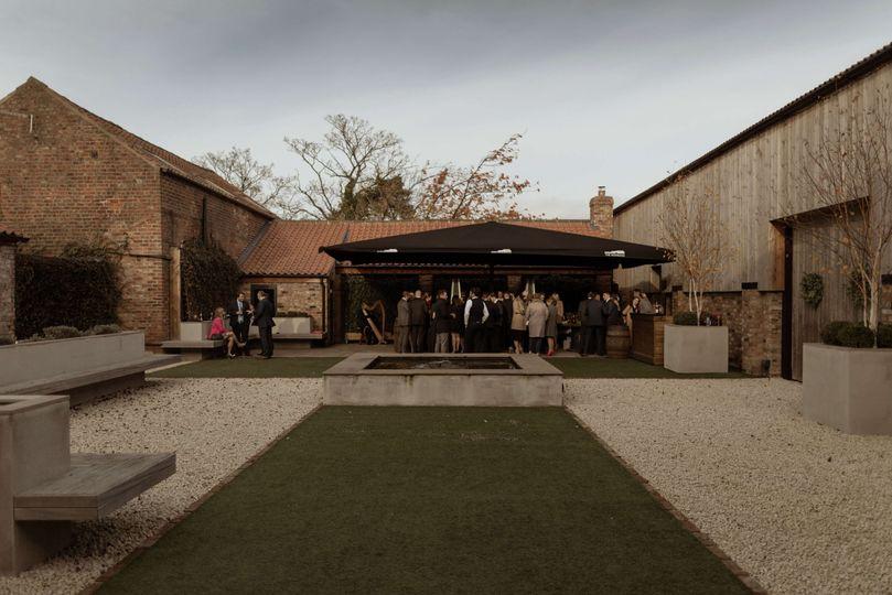 Barn courtyard reception