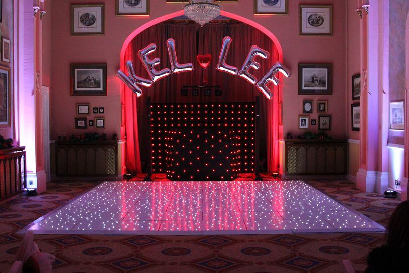 Led dancefloor with disco