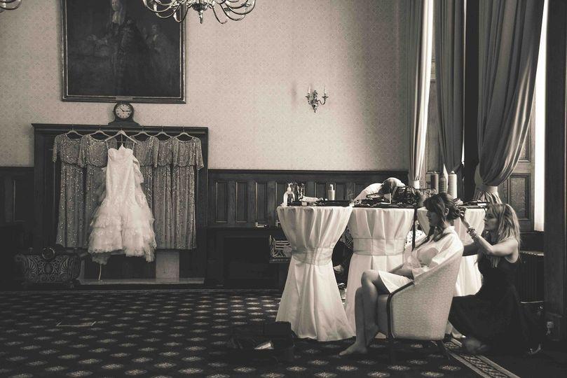 Bride dressing room