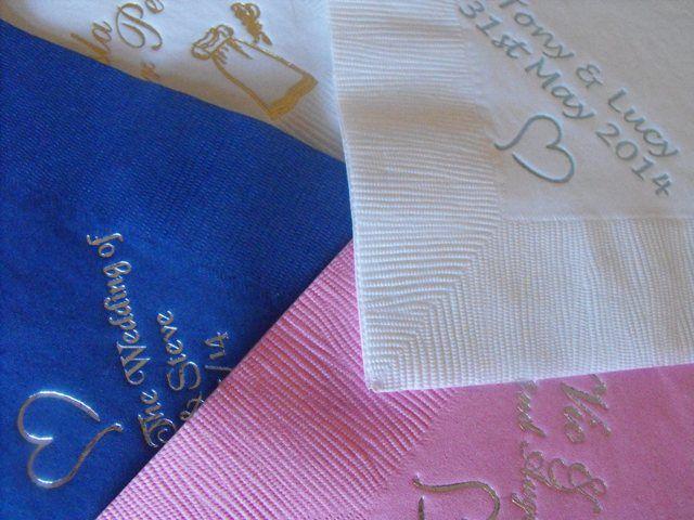 Printed luxury napkins