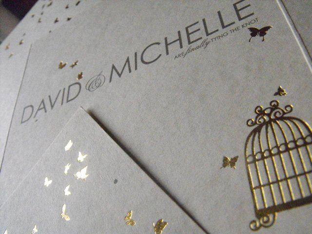 Foil printed invitations