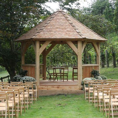 Oak framed gazebo