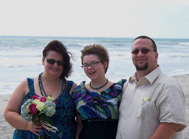 Casual beach wedding