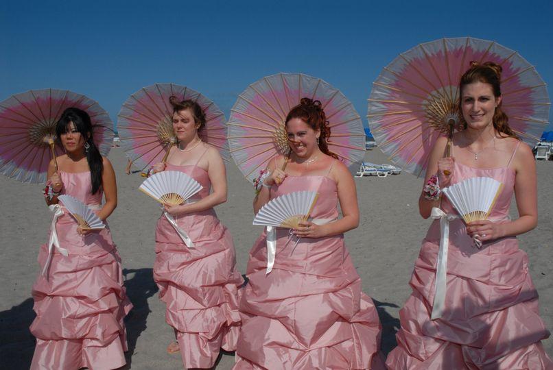Beach wedding style