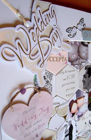 Close up wedding cards