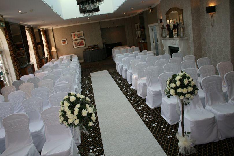 White sparkle on white linen