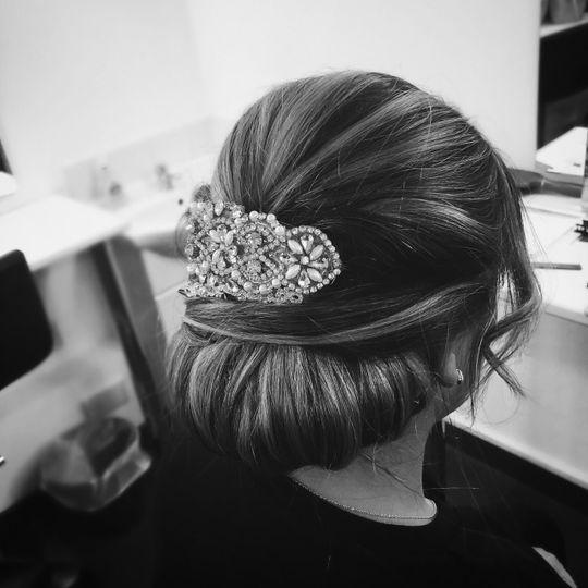 Elegant bridal hair