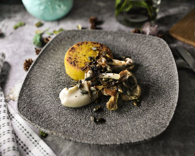 Truffle and chive polenta
