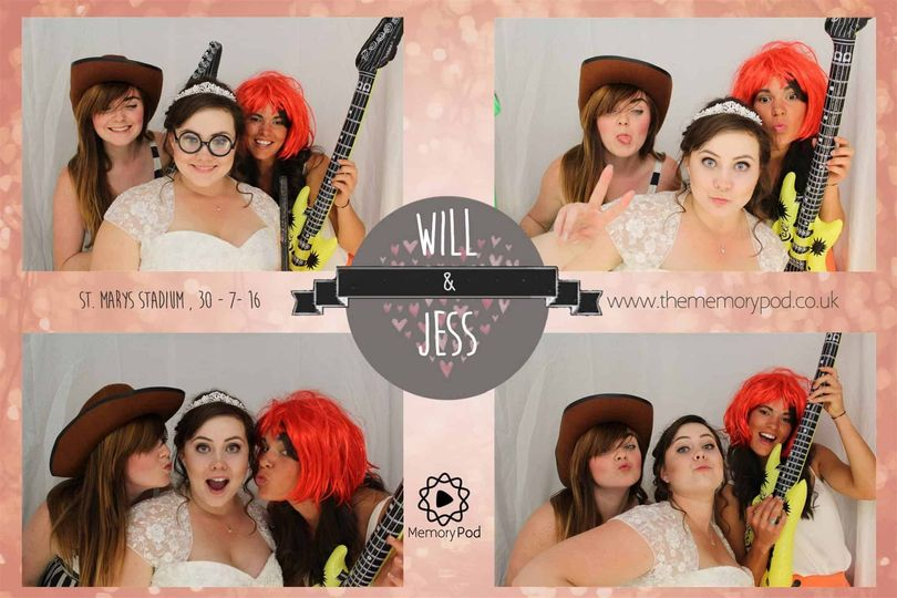 Poising with the bride