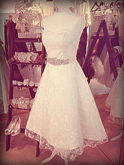 Lydia lace tea dress
