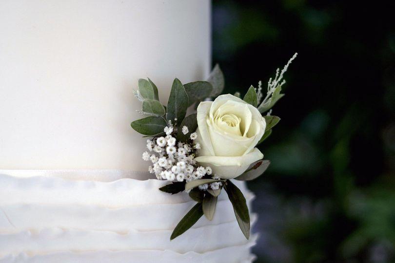 Wedding Cake Floral Close Up