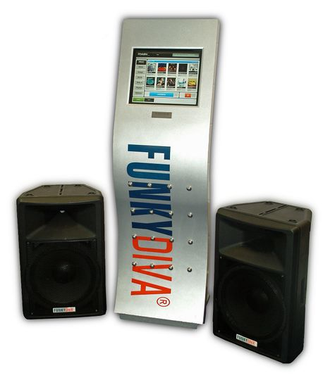 FunkyDiva with two speakers