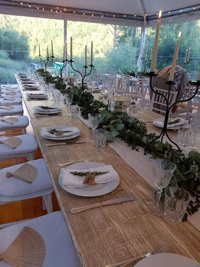 Tuscany marquee dressing