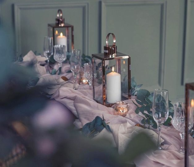 Copper and sage styling