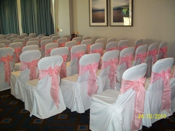 Chair cover set up