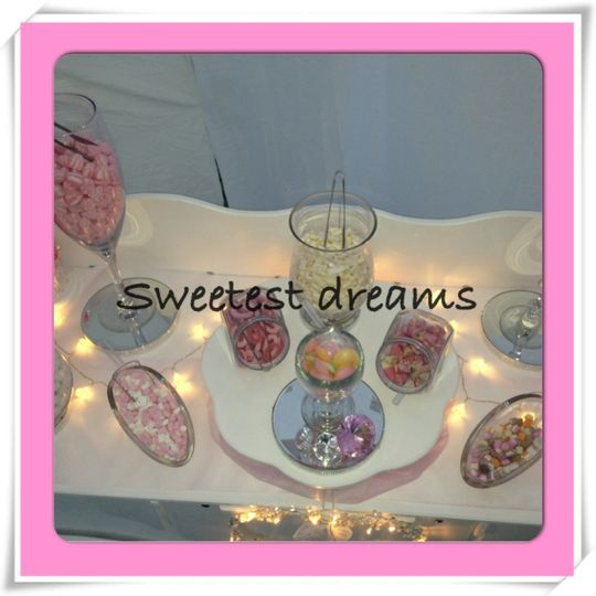 Glassware with sweets