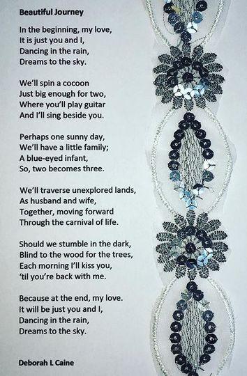Embellished poem print