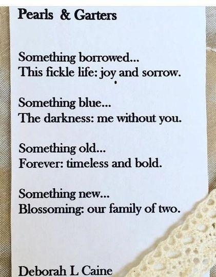 Rhyming wedding poem