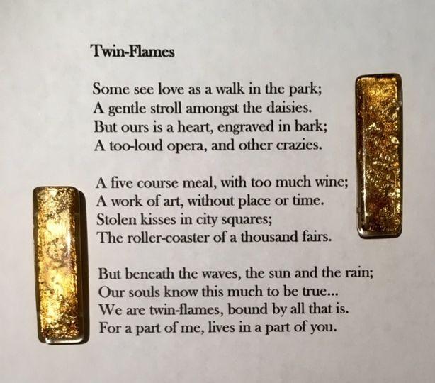 Bespoke poem, framed