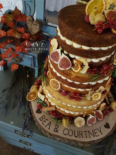 Autumnal Naked Wedding Cake