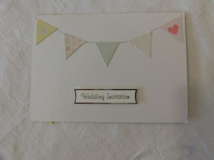 Bunting on white