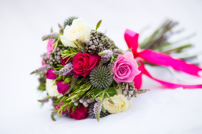 Herb scented bridal bouquet