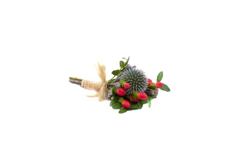 Modern thistle buttonhole