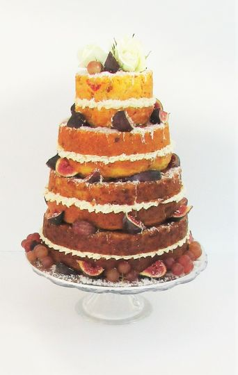 Naked Savoury Wedding Cake