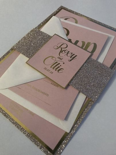 Gold and Pink Glitter Suite