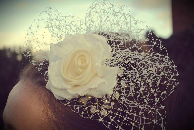 Bridal headwear by Lucy