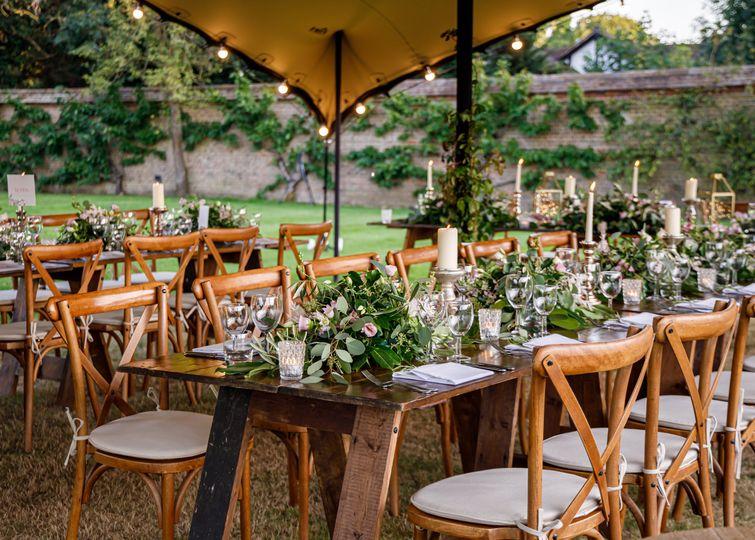 Alfresco Wedding on the Lawn