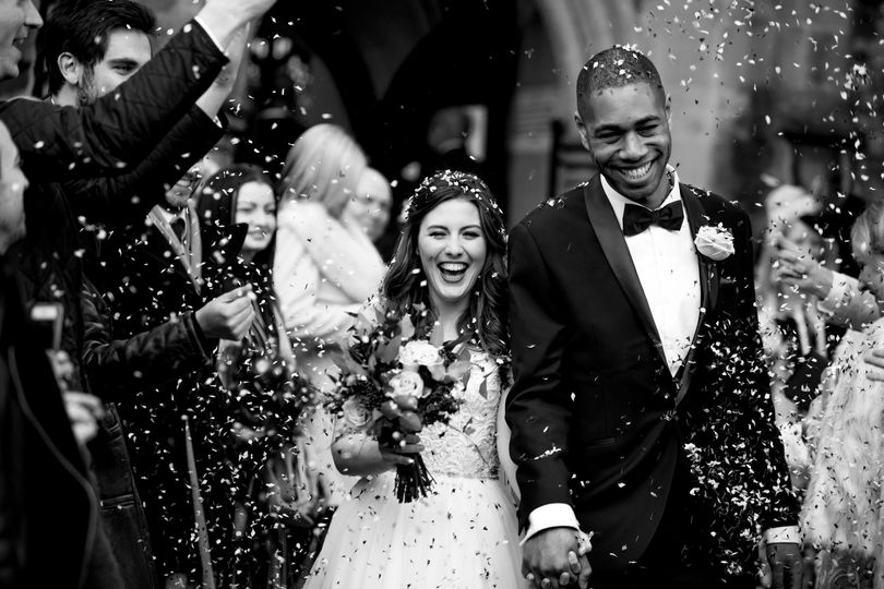 Delight for the newlyweds - Richard Murgatroyd Photography