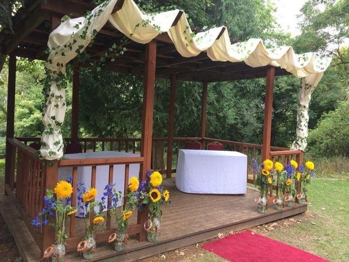 Stunning ceremony backdrop