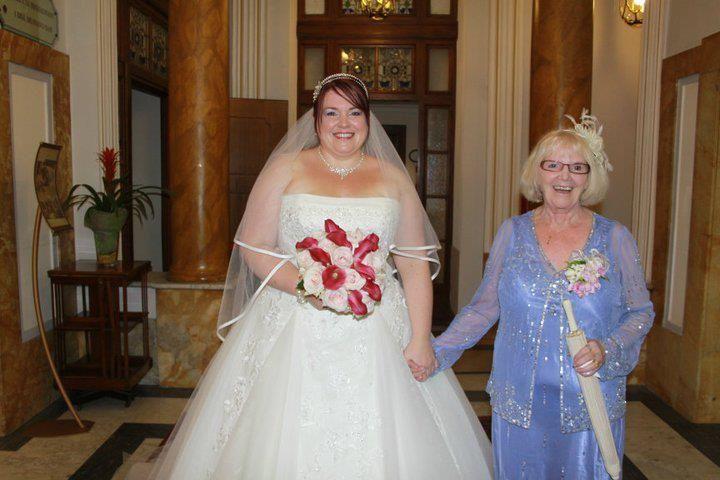 Bride and brides mother