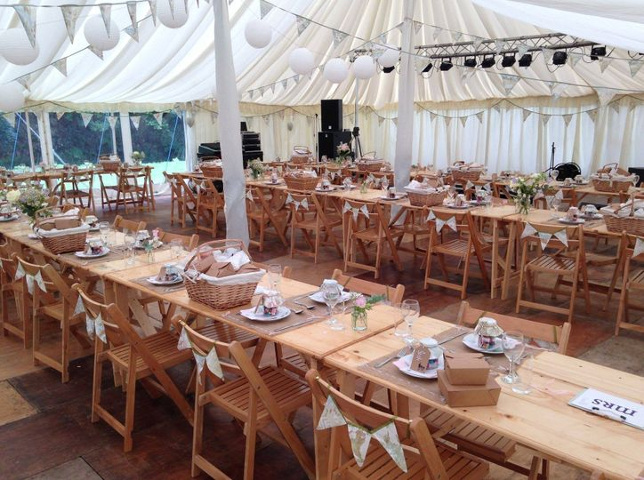 Marquee Wedding  picnic for 100 guests