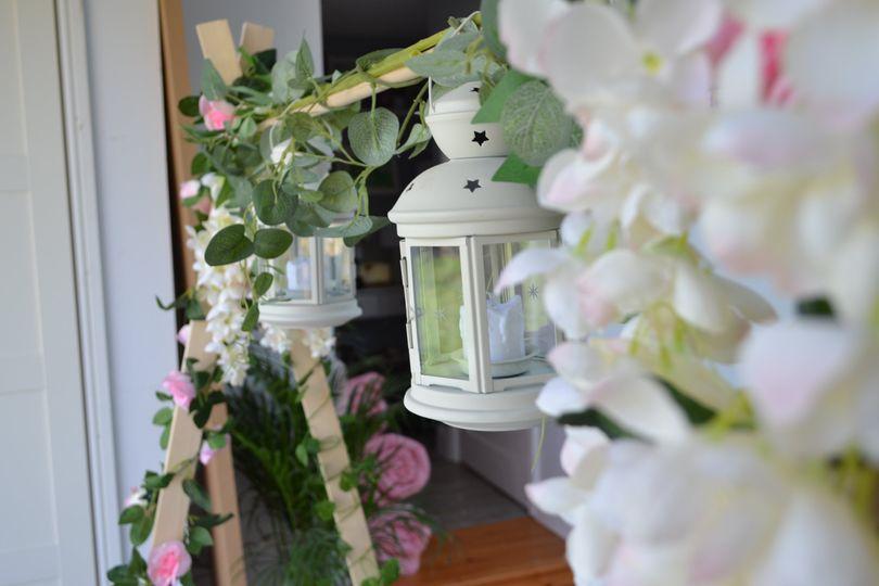 Florals and lantern frame