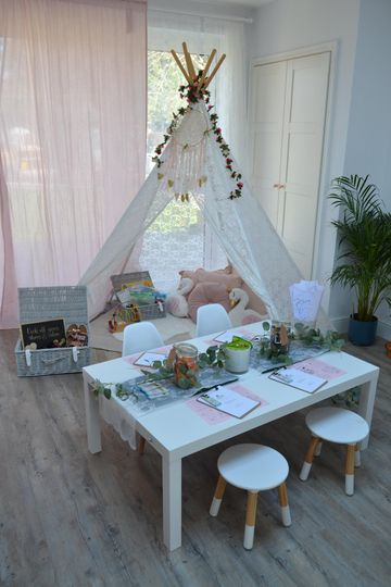 Pretty table for children's activities