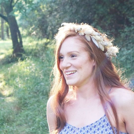 Fawn dried flower crown