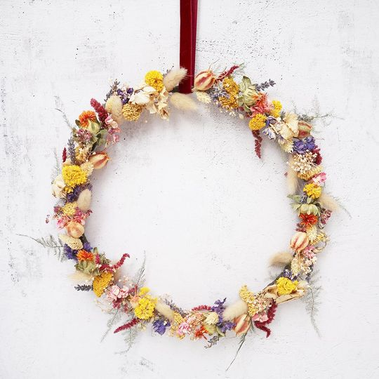 Ceres dried flower wreath