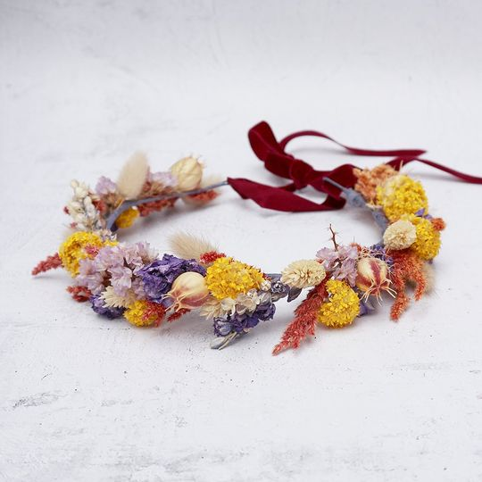 Fiesta Dried Flower Crown