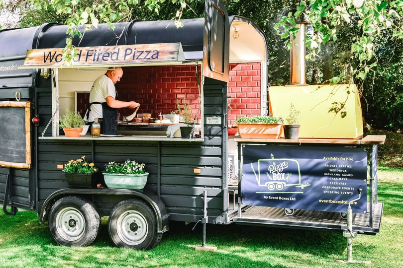 The Pizza Box in Perthshire - Wedding Catering | hitched.co.uk