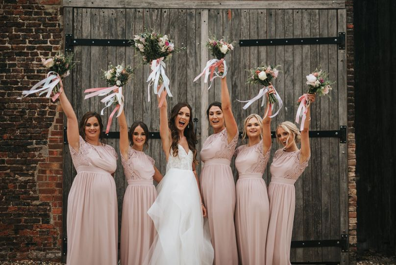 Barn doors and bridesmaids