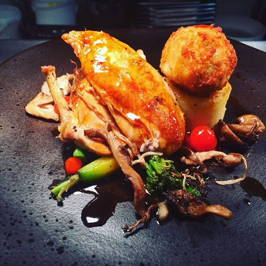 Chicken, fondant potato